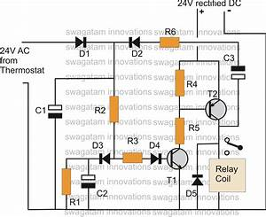 Thermostat Delay Relay Timer Circuit