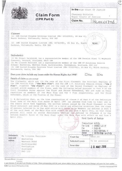 commercial court claim form n1cc claim form claim form high court
