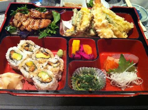 bento japanese cuisine bento box delivers on a lot of variety picture of hana