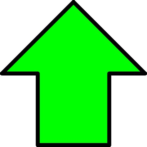 Up Clipart Clipart Green Up Arrow