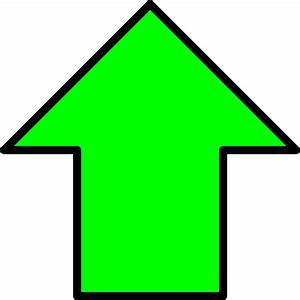 Clipart - Green up arrow