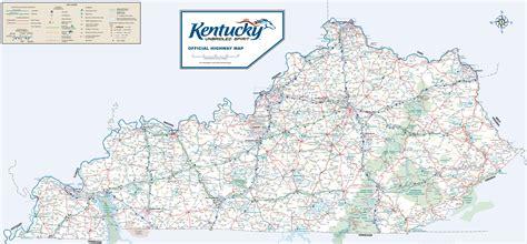 large detailed road map  kentucky