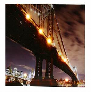 Led Bild New York : led wandbild 50x50cm new york manhatten bridge led bild ~ Pilothousefishingboats.com Haus und Dekorationen