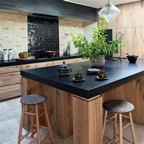 comptoir cuisine cuisine rustique idée déco cuisine ancienne