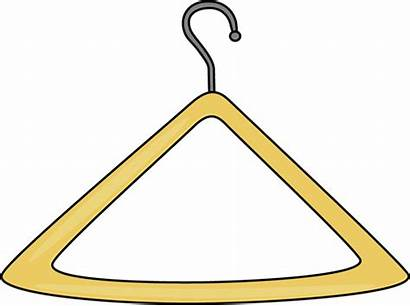 Clipart Clothes Hanger Yellow Clip Cliparts Triangle