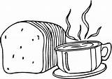Coloring Pages Bread Cute Foods Fun Popular Template sketch template