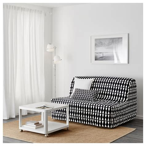 Ikea Sofa With Storage by Lycksele H 197 Vet Two Seat Sofa Bed Ebbarp Black White Ikea