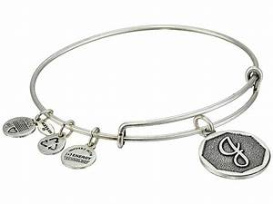 Alex and ani initial j charm bangle rafaelian silver for Letter j bracelet
