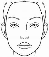 Face Coloring Blank Makeup Printable Chart Charts Sketch Pages Barbie Print Mac Beauty Sketchite sketch template