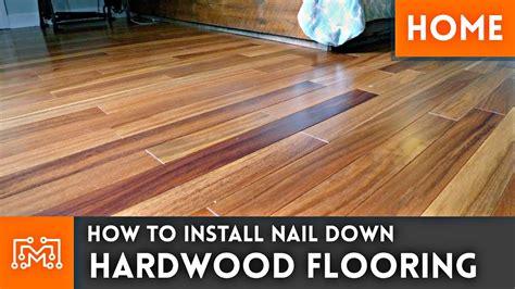 Install Hardwood Flooring Nail  Home
