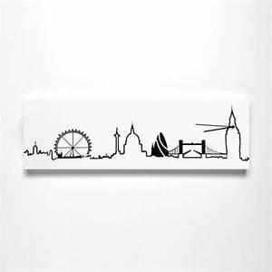 London Skyline Schwarz Weiß : progetti skyline london wanduhr ~ Watch28wear.com Haus und Dekorationen