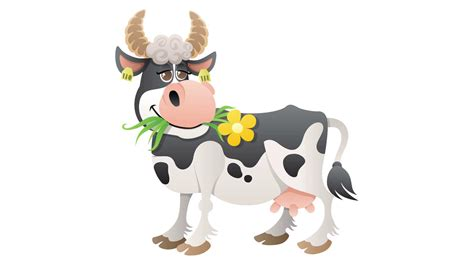 Cartoon Cow Animation Motion Background