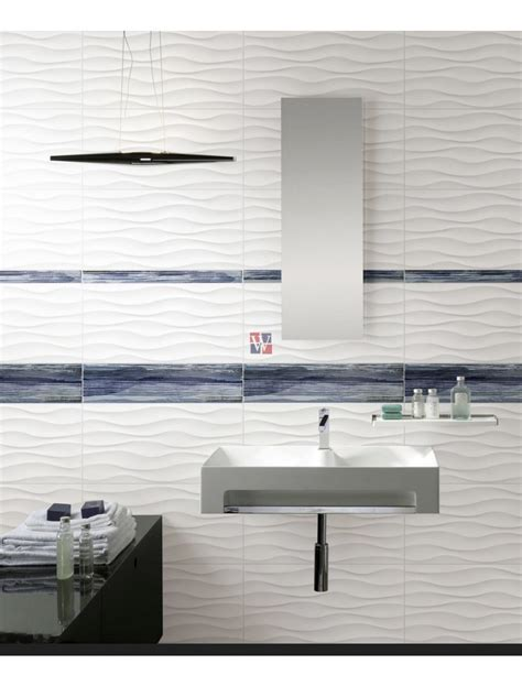 Buy Dymo Wavy White 12X24   Ceramic Tile   Wallandtile.com