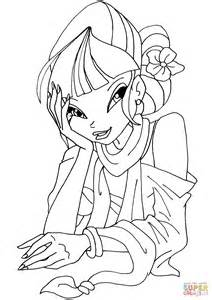 winx da colorare musa cafe musa coloring page free printable coloring pages