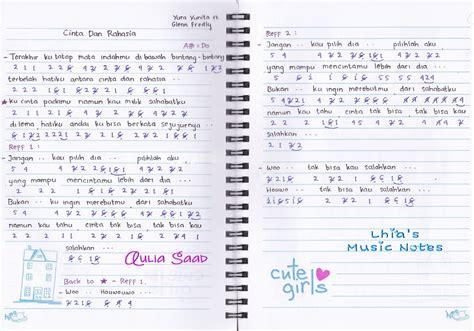 not angka lagu korea not angka yura yunita feat glenn fredly cinta dan rahasia lhia 39 s music notes