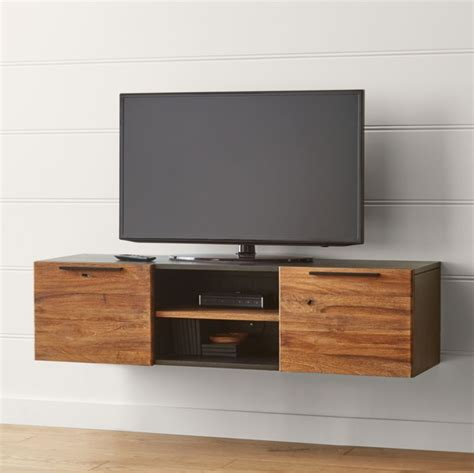 rigby natural  small floating media console reviews