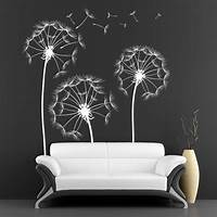 lovely love wall decals Wall Sticker With Lovely Dandelion Flowers - Cutzz