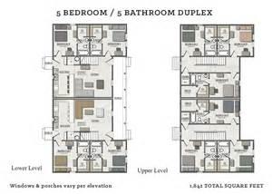 Bedroom Duplex Floor Plans by 5 Bedroom Duplex The Cottages Of Tempe
