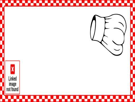 Baking clipart border   Pencil and in color baking clipart