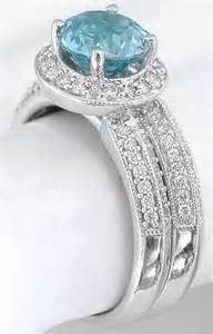 birthstone wedding rings blue zircon engagement ring and matching band gr 1060