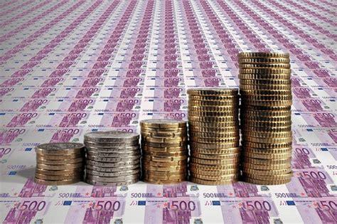 kostenlose illustration euro stapel geld muenzen