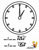 Clock Coloring Tell Hours Yescoloring Fearless Learning sketch template