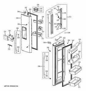 Fresh Food Doors Diagram  U0026 Parts List For Model
