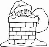 Coloring Pages Christmas Chimneys Holidays sketch template