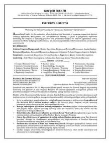 resume sles for govt government resume exle