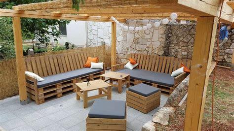hacer sofa terraza muebles de terraza con palets muebles de terraza
