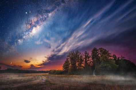 Milky Way Night Sky Stars Laptop Full