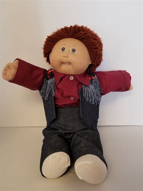 Cabbage patch boy doll Brown yarn haired cabbage patch kid
