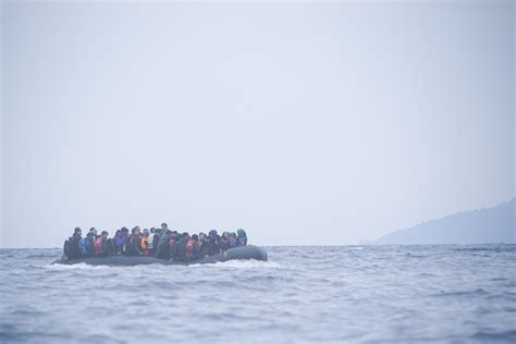 Boat Refugee Policy by File Refugees On A Boat Crossing The Mediterranean Sea