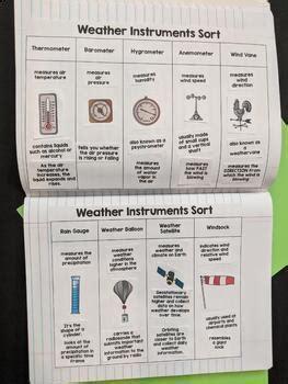 weather instruments worksheet engaging  kayla renee