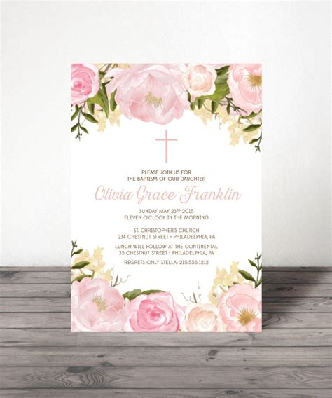 First Holy Communion or Baptism Invitations Communion