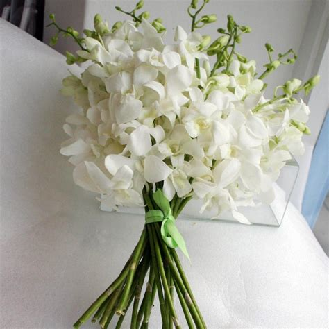 an orchid bouquet or basket is very popular with summer