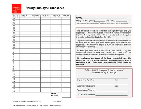 hourly employee timesheet template employee timesheet template generic hourly employee timesheet pdf ideas for the house