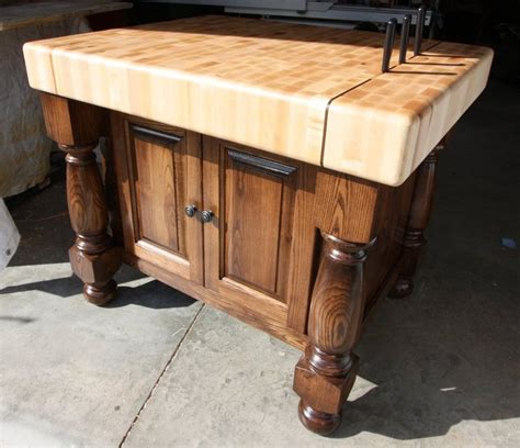 kitchen butchers blocks islands butcher block island by bryanatwoodstock lumberjocks 5144
