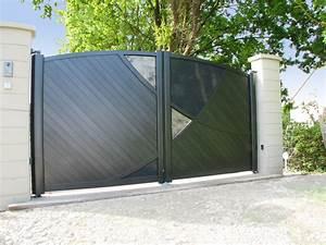 Portail Coulissant Motorisé 4m : photo de portail design portail ~ Dailycaller-alerts.com Idées de Décoration