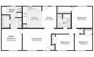 Modern design 4 bedroom house floor plans four bedroom for Layout for 4 bedroom house