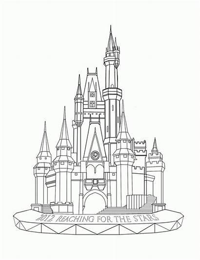 Disney Coloring Walt Pages Castle Sheets