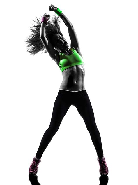 zumba fitness dance woman silhouette exercising body moves dancing toning workouts dancer