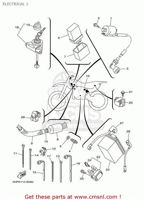 Ttr 50 Wiring Diagram by Yamaha Ttr125e Ttr125lwe 2003 3 Usa Large Wheel Model