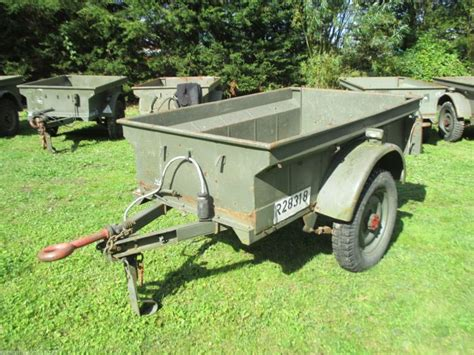jeep utility trailer army 1950 39 s us style jeep bantam trailer 1 4 t utility