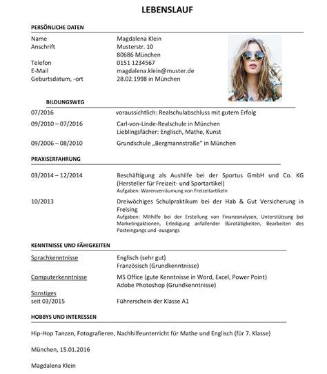 Lebenslauf Auf by Lebenslauf Vorlage 2016 Dokument Blogs