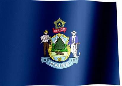 Maine Flag State Waving