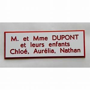 Etiquette Pour Boite Aux Lettres : modele etiquette boite aux lettres finest plaque ~ Dailycaller-alerts.com Idées de Décoration