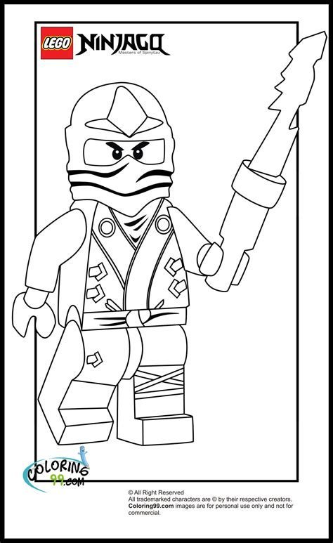 lego ninjago zane coloring pages team colors