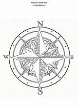 Nautical Compass Coloring Rose Burning Wood Pirate Pages Pyrography Patterns Pattern Stencils Template Ship Stencil Colors sketch template