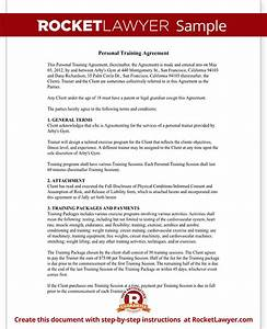 personal trainer forms personal training contract With personal trainer contract templates